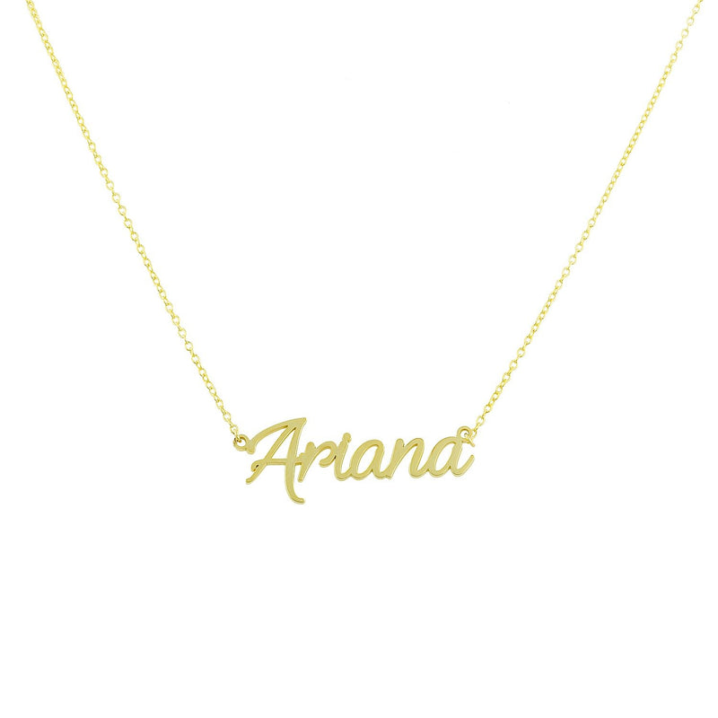 Custom Cursive Nameplate Necklace