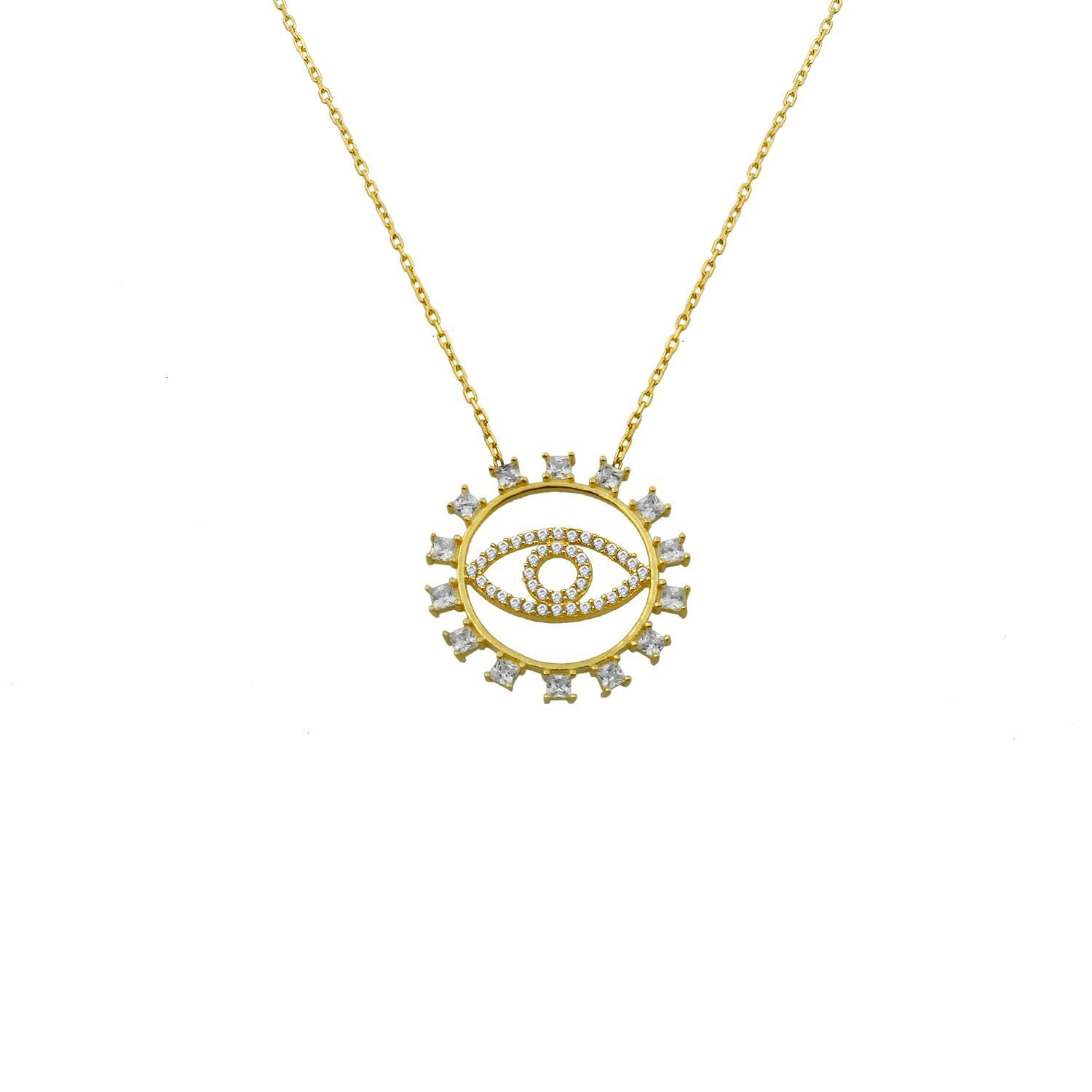 Crystal Circle with Crystal Evil Eye