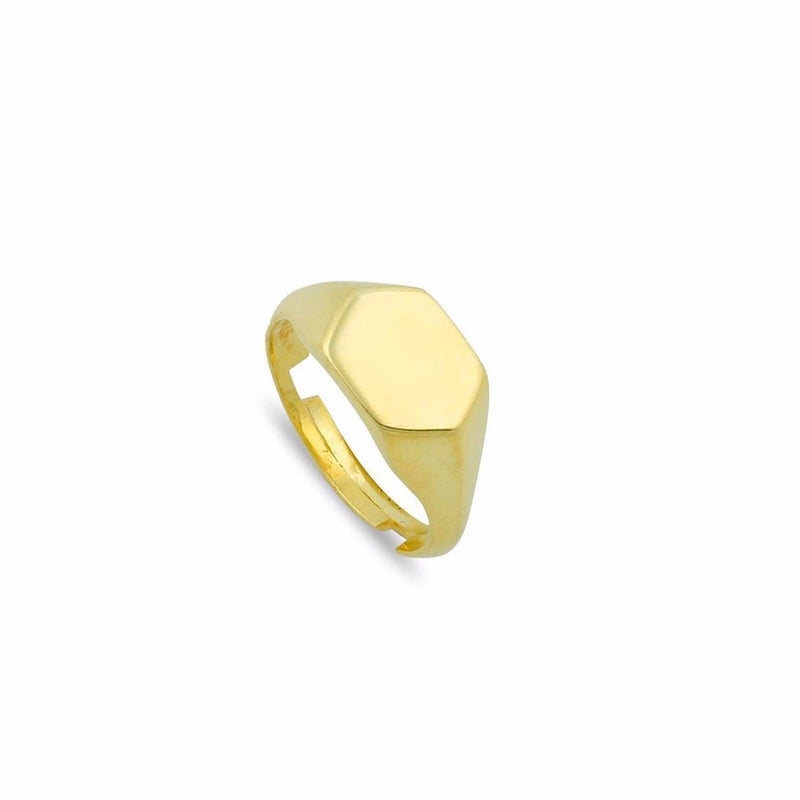 Hex Adjustable Pinky Ring JEWELRY The Sis Kiss