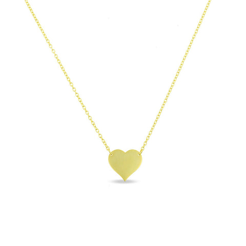 Gold Heart Pendant Necklace - PREORDER