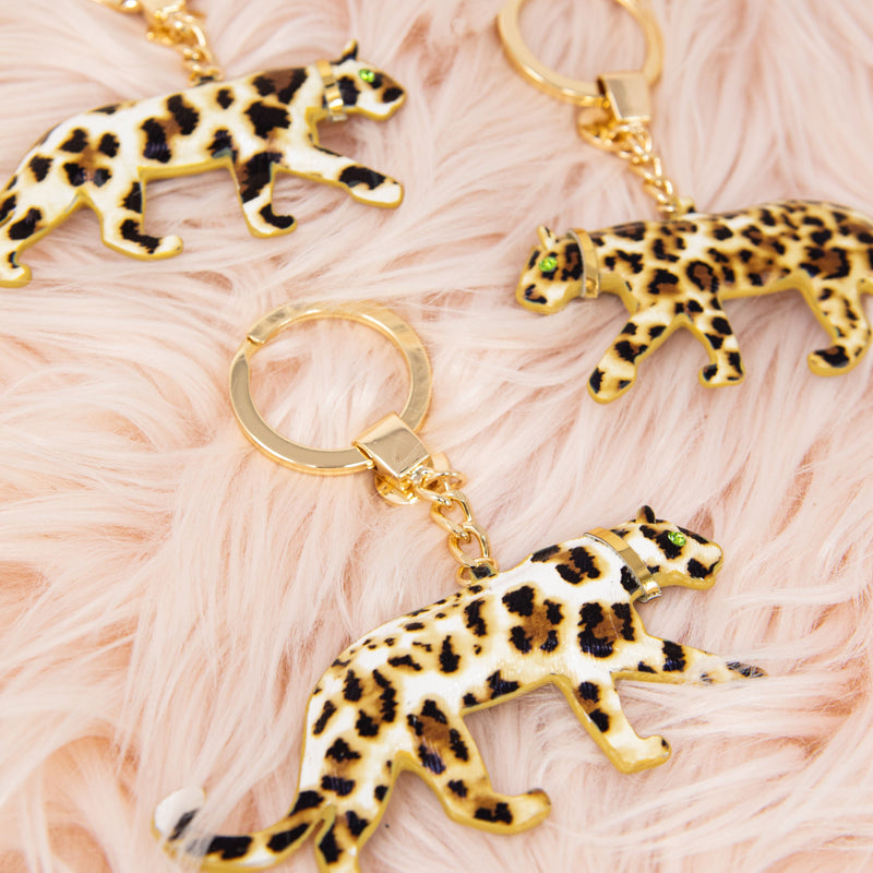 TSK Louis the Leopard Keychain HOME The Sis Kiss