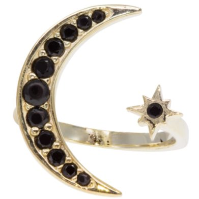 Open Moon and Star Adjustable Ring JEWELRY The Sis Kiss