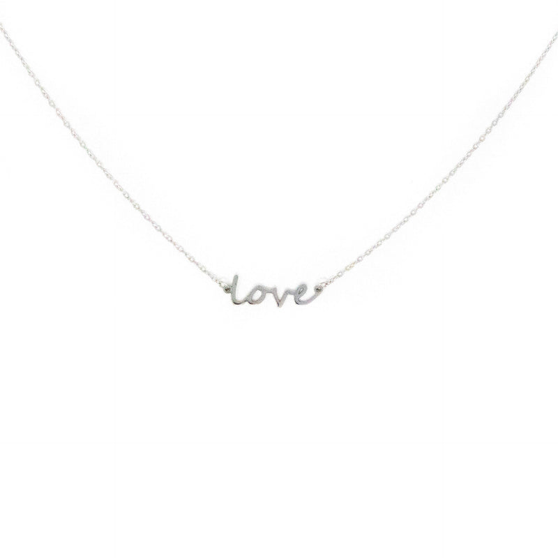 Love Dainty Necklace necklace The Sis Kiss Silver