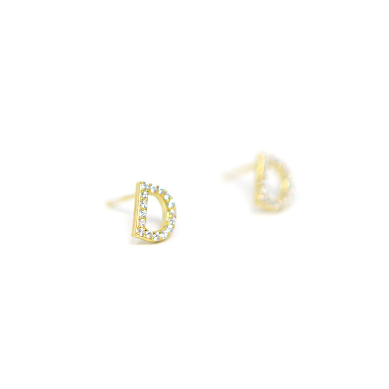 Single Letter Initial Earrings - Sold as Separates