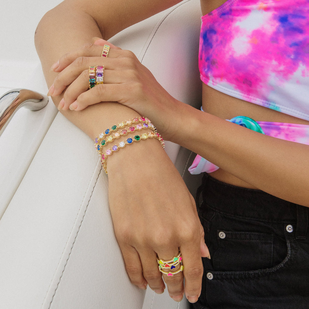 Summer Rainbow Bracelet JEWELRY The Sis Kiss