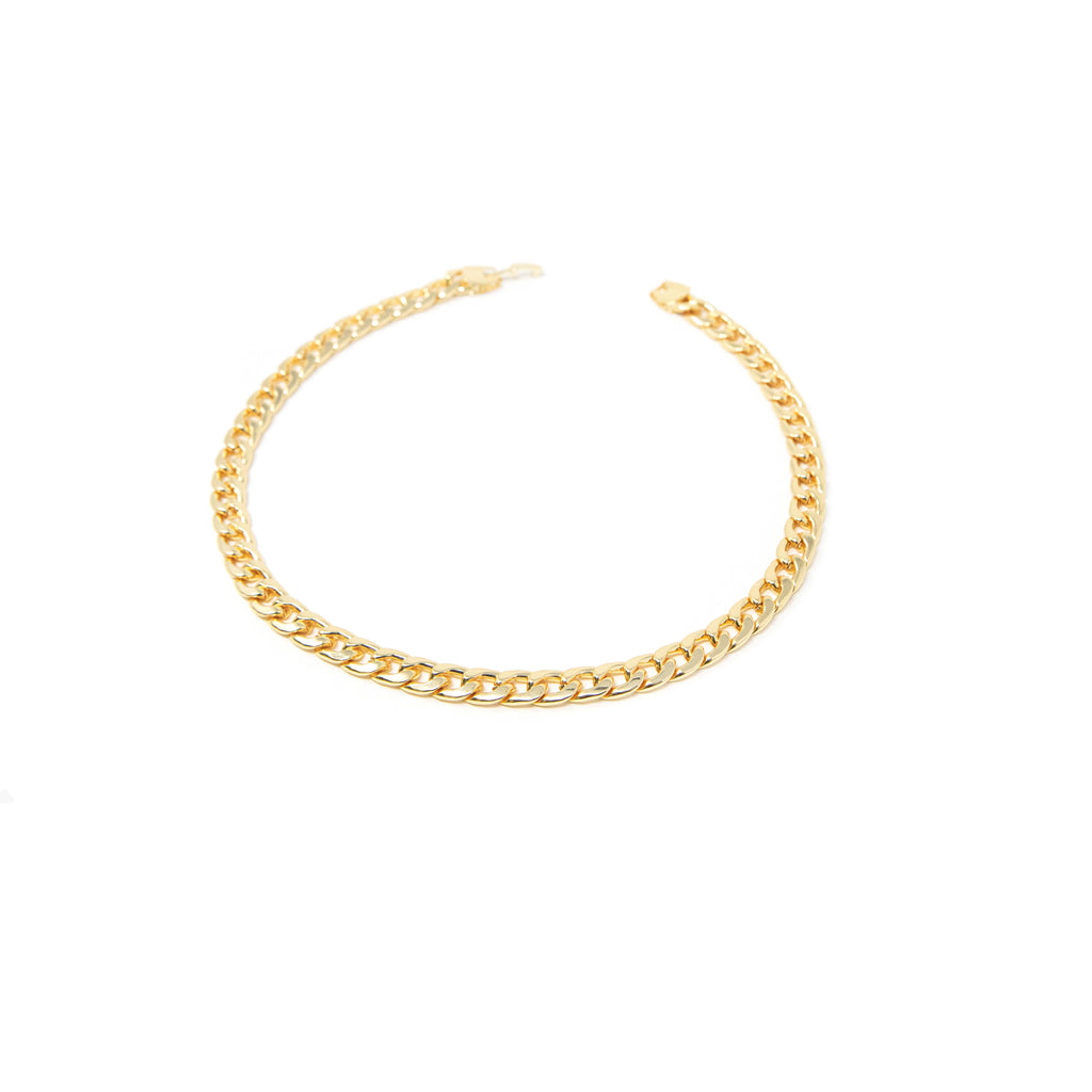 Gold Curb Chain Necklace JEWELRY The Sis Kiss