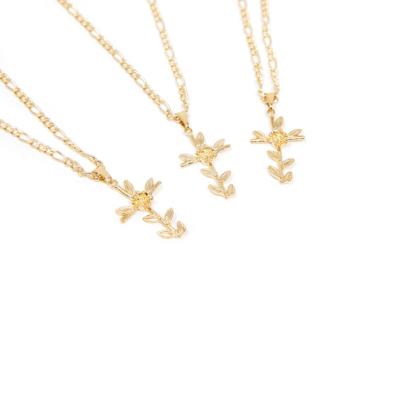 Rose of Sharon Cross Pendant JEWELRY The Sis Kiss