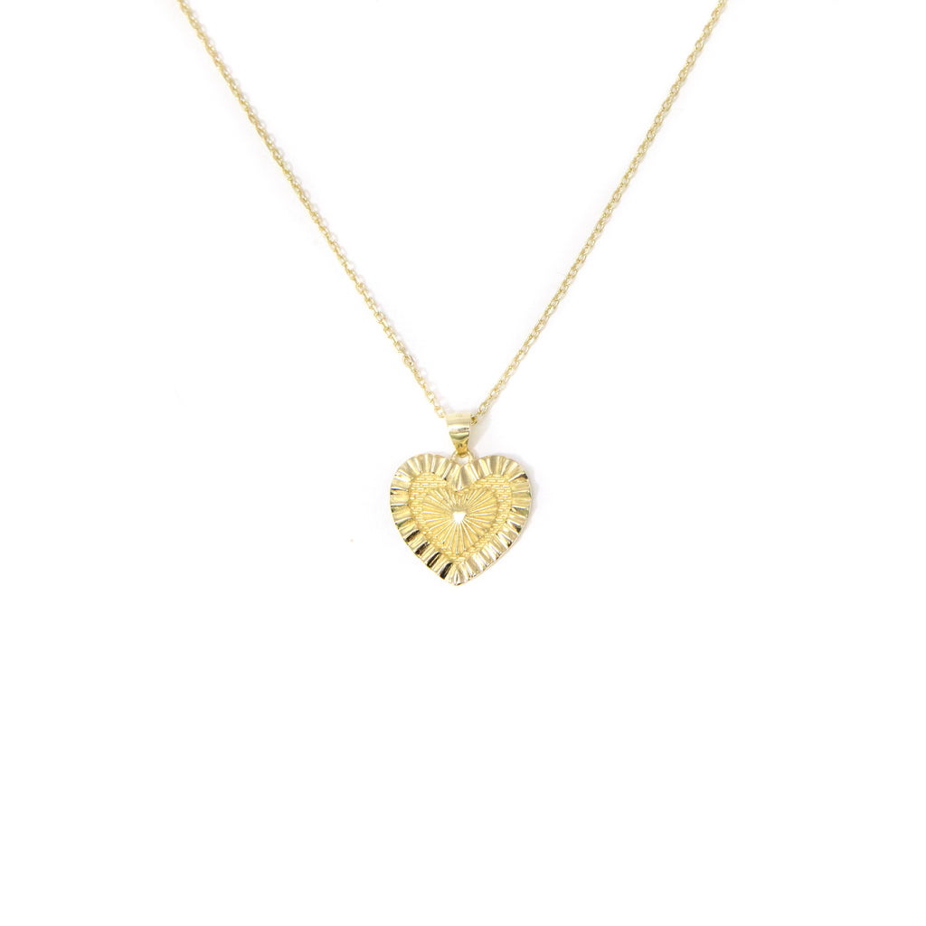 Radiant Heart Pendant Necklace JEWELRY The Sis Kiss