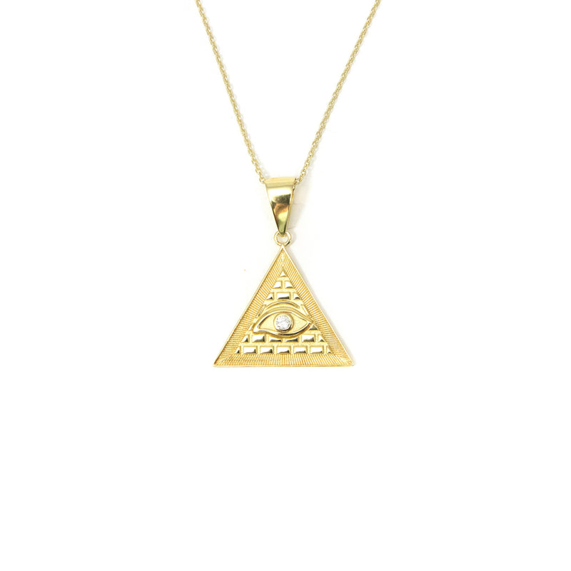 Evil Eye Pyramid Pendant JEWELRY The Sis Kiss