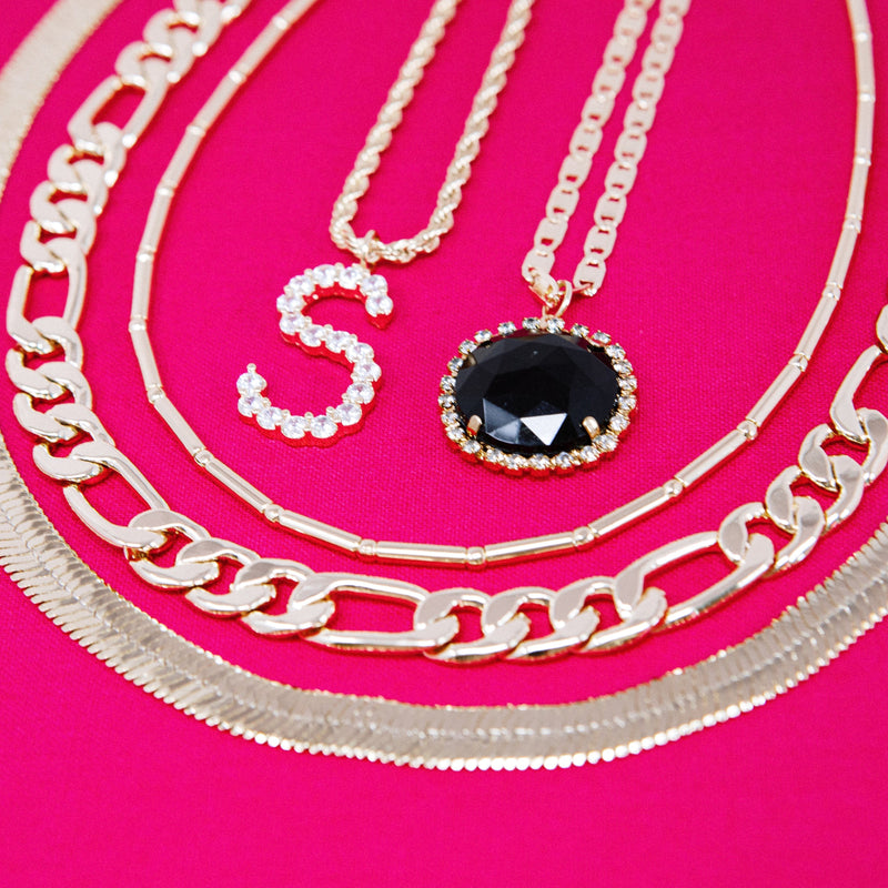 Bright Gem Round Pendant Necklaces JEWELRY The Sis Kiss