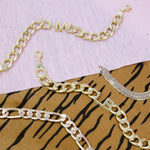 Custom Chain Link Initial Bracelet JEWELRY The Sis Kiss