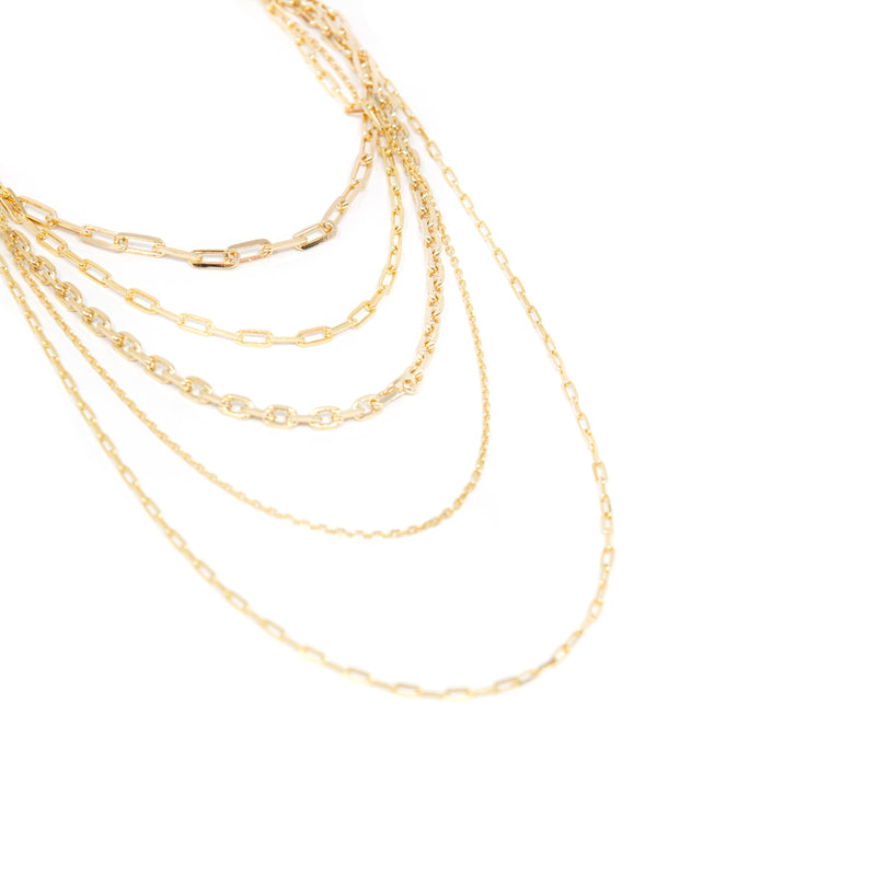 The Sis Kiss Statement Layered Chain Link Necklace