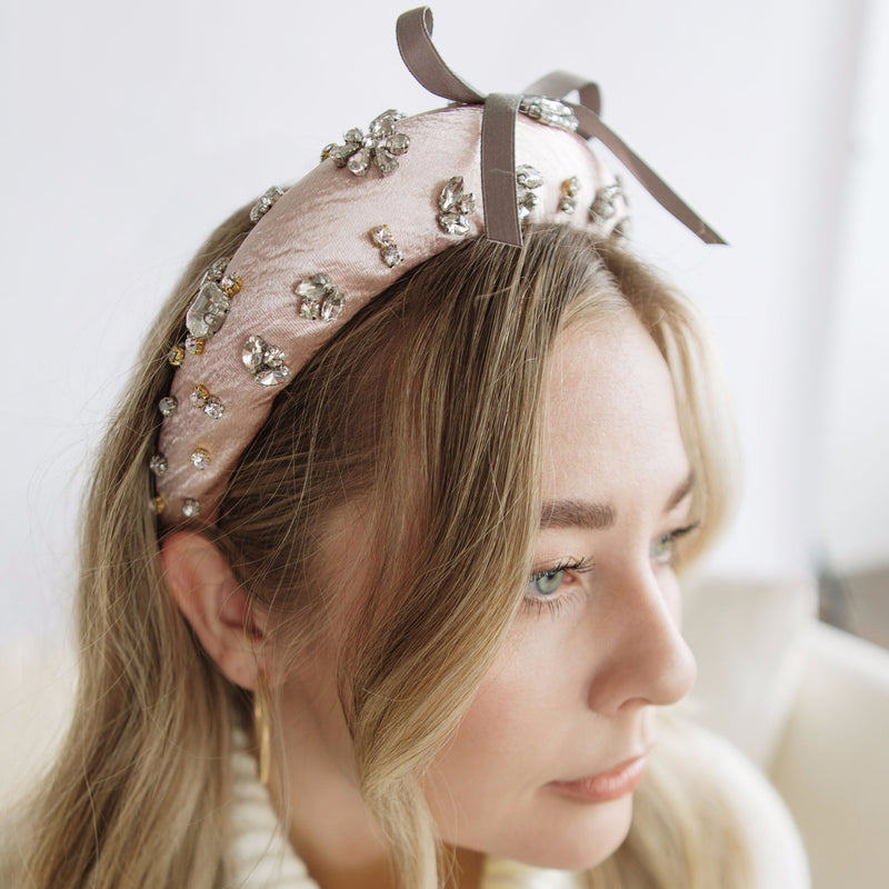 Pretty Pretty Blush Velvet Headband