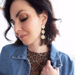 Gold Coin Drop Earring JEWELRY The Sis Kiss