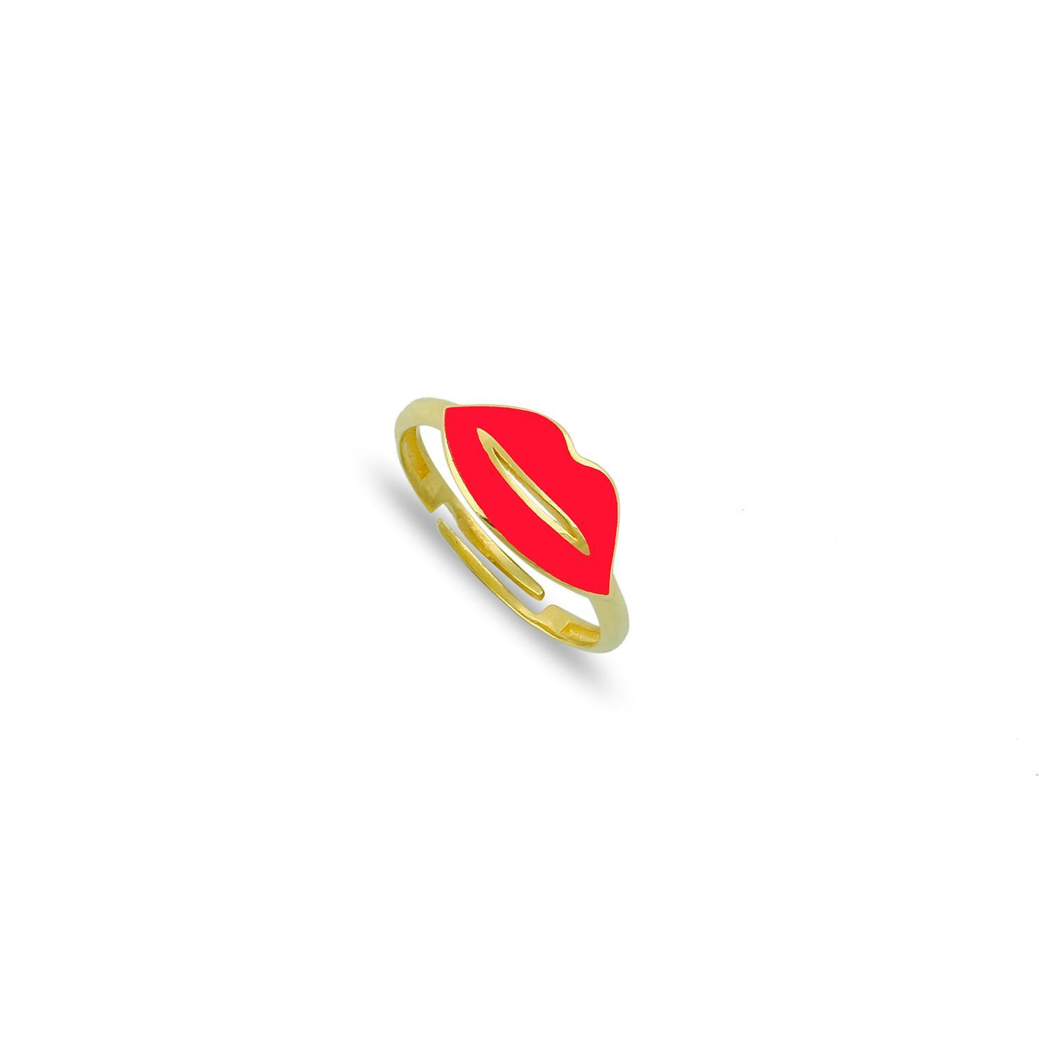 Adjustable Red Lip Ring