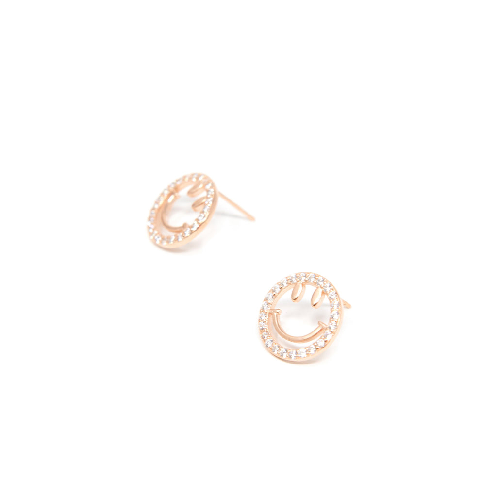 Sweet Smile Crystal Stud Earrings JEWELRY The Sis Kiss