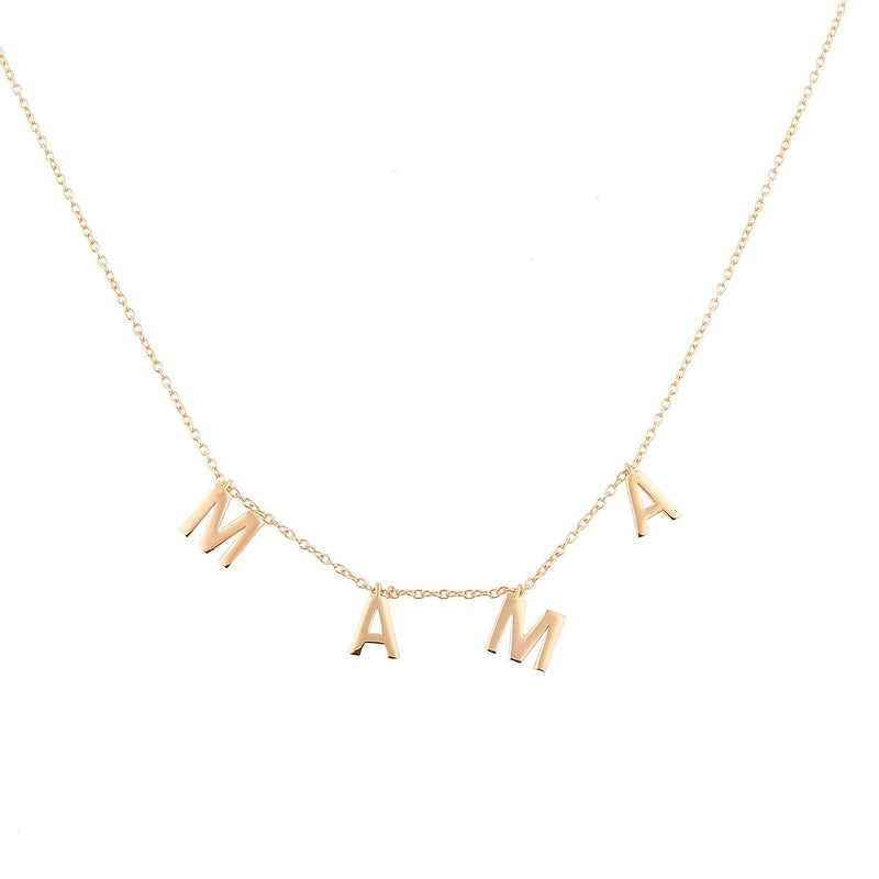 It's All in a Name™ MAMA Necklace JEWELRY The Sis Kiss Rose Gold No Crystals
