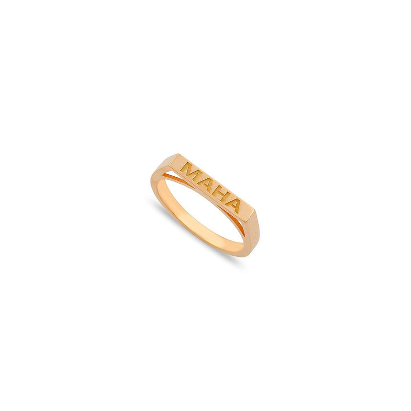 Custom Stackable Bar Ring JEWELRY The Sis Kiss Rose Gold Size 6