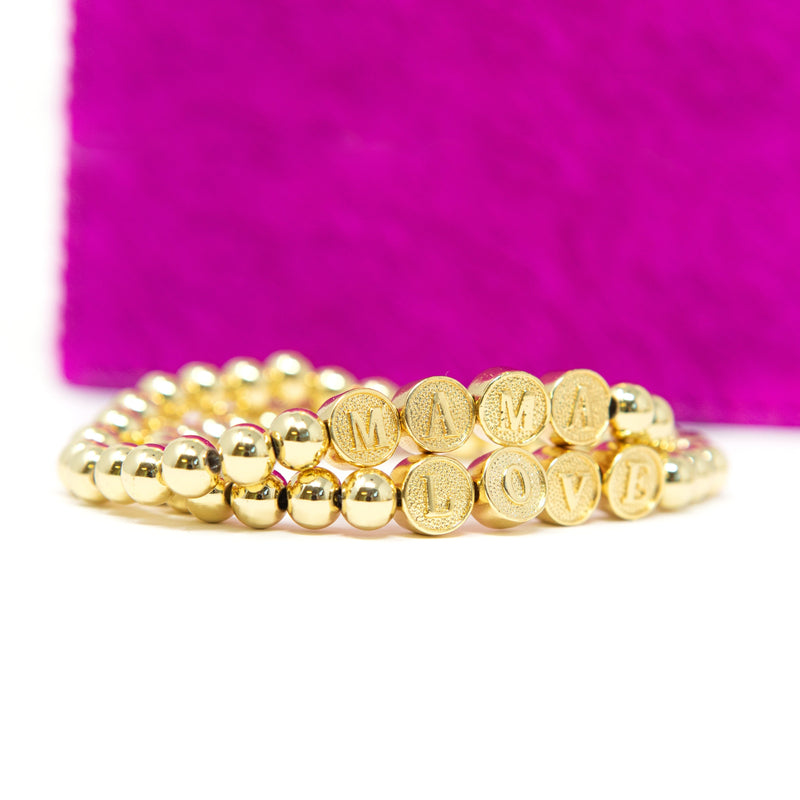 All Gold Mama and Love Bracelets