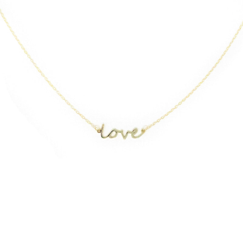 Love Dainty Necklace necklace The Sis Kiss Gold