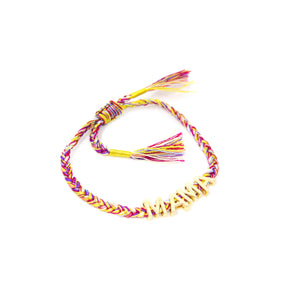 Purple Red and Gold Mama Adjustable Bracelet