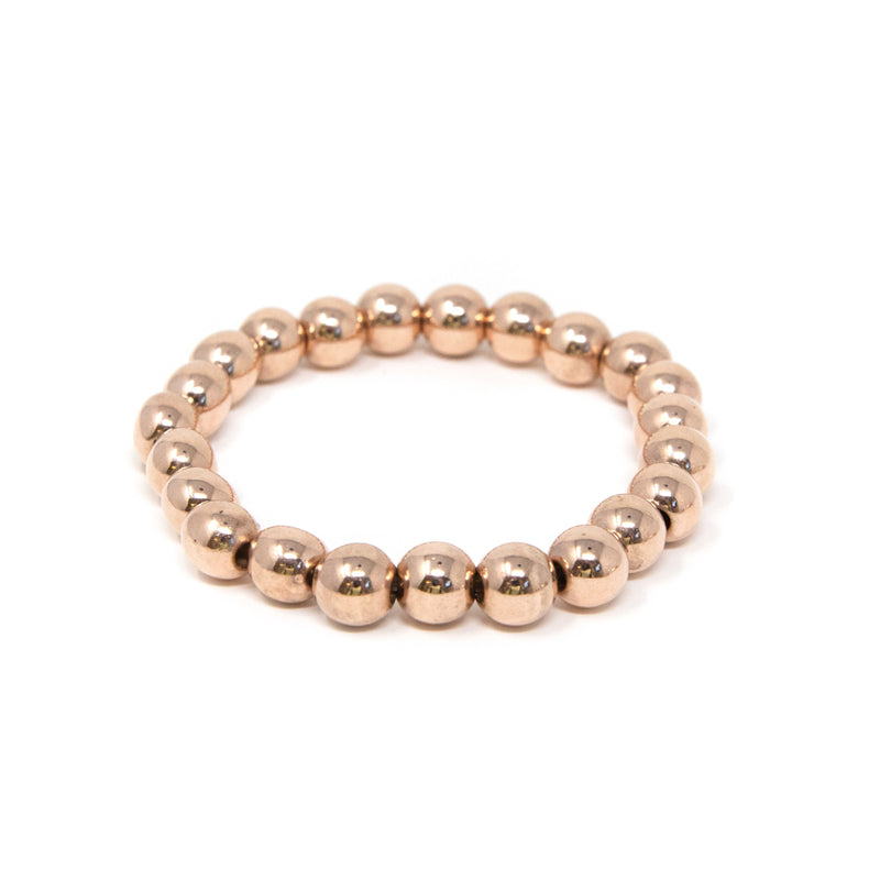 Classic Beaded Elastic Bracelets JEWELRY The Sis Kiss Rose Gold