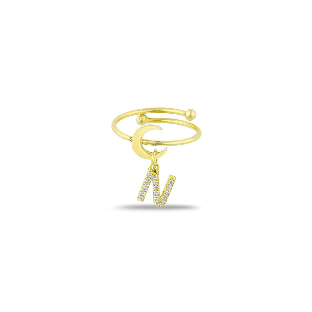 Moon and Crescent Adjustable Ring PREORDER