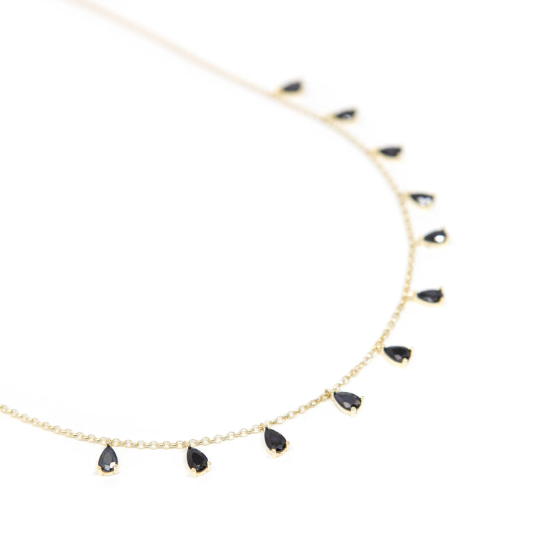 Teardrop Crystal Chokers necklace The Sis Kiss Black