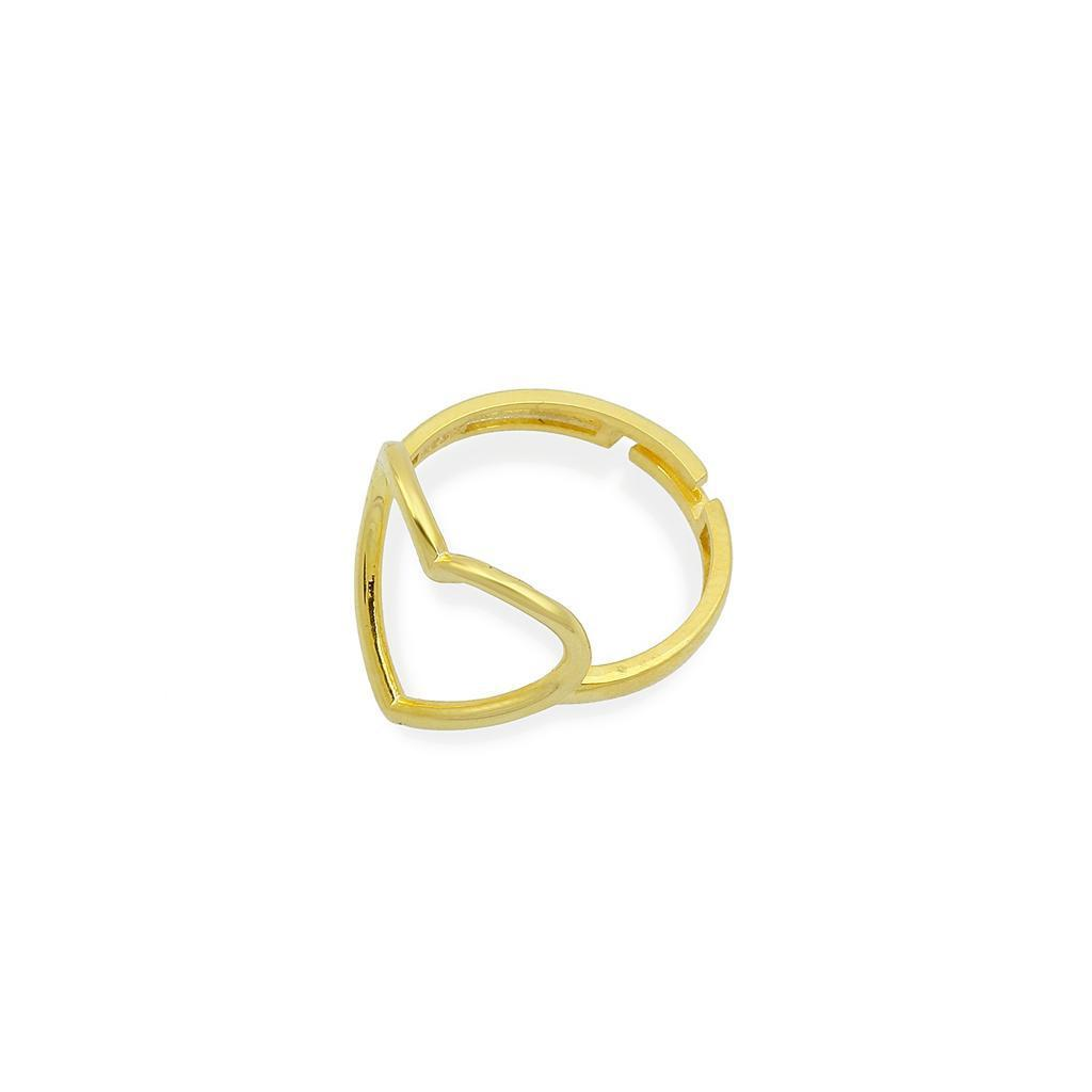Adjustable Open Heart Ring JEWELRY The Sis Kiss