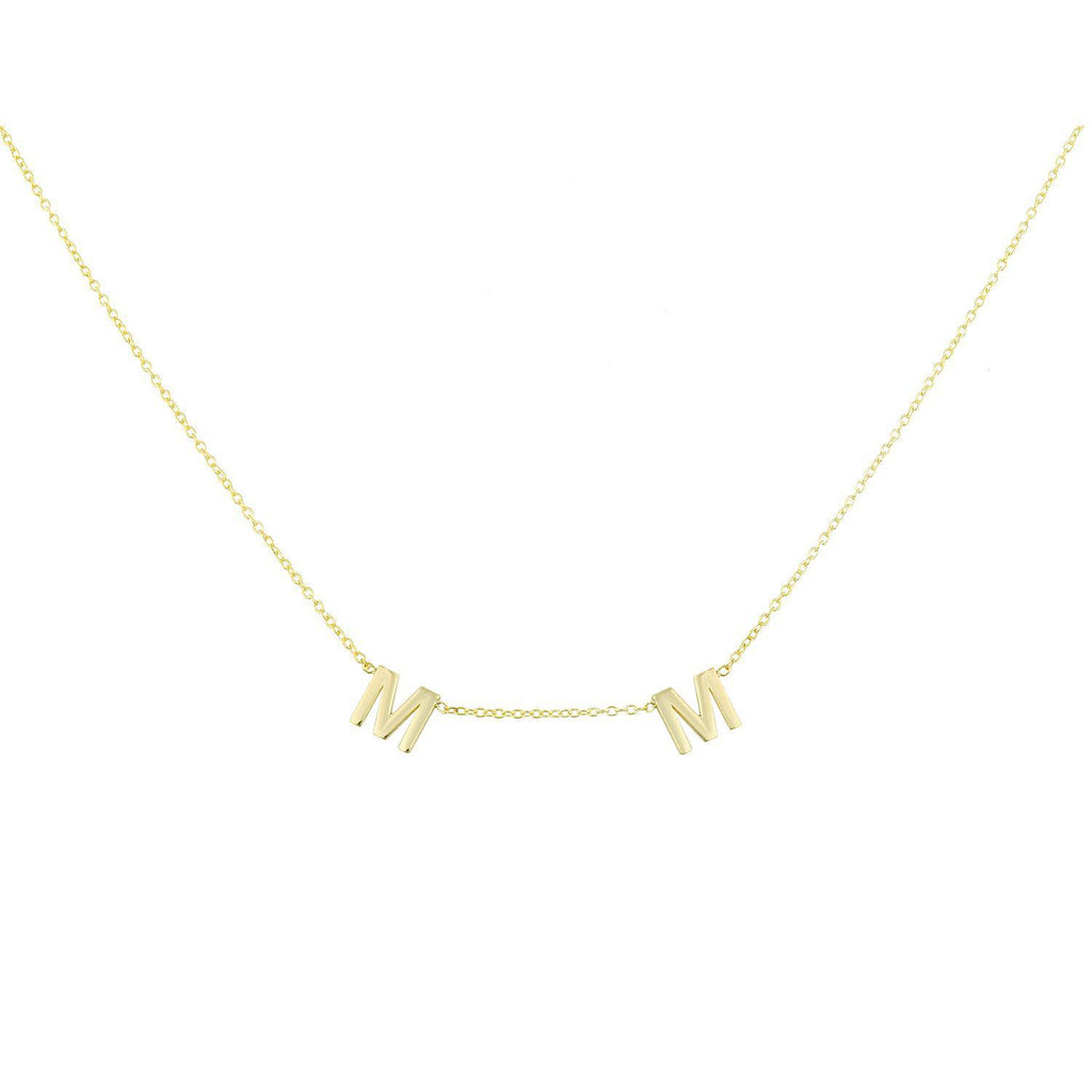 It's All in a Name™ *Linked* Personalized Necklace necklace The Sis Kiss Gold