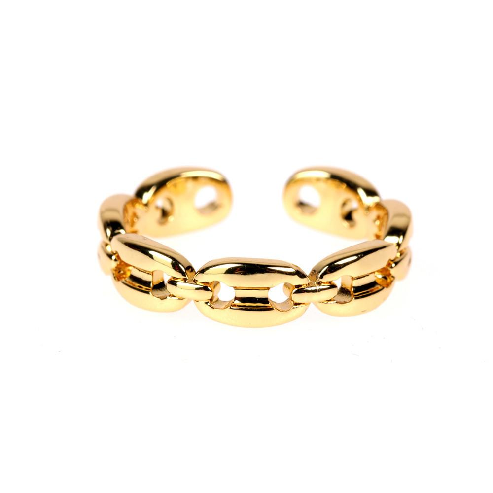 Anchor Chain Adjustable Ring JEWELRY The Sis Kiss