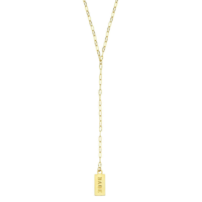 Babe Tag Lariat JEWELRY The Sis Kiss
