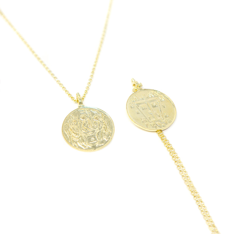 Religious Icon Coin Necklace