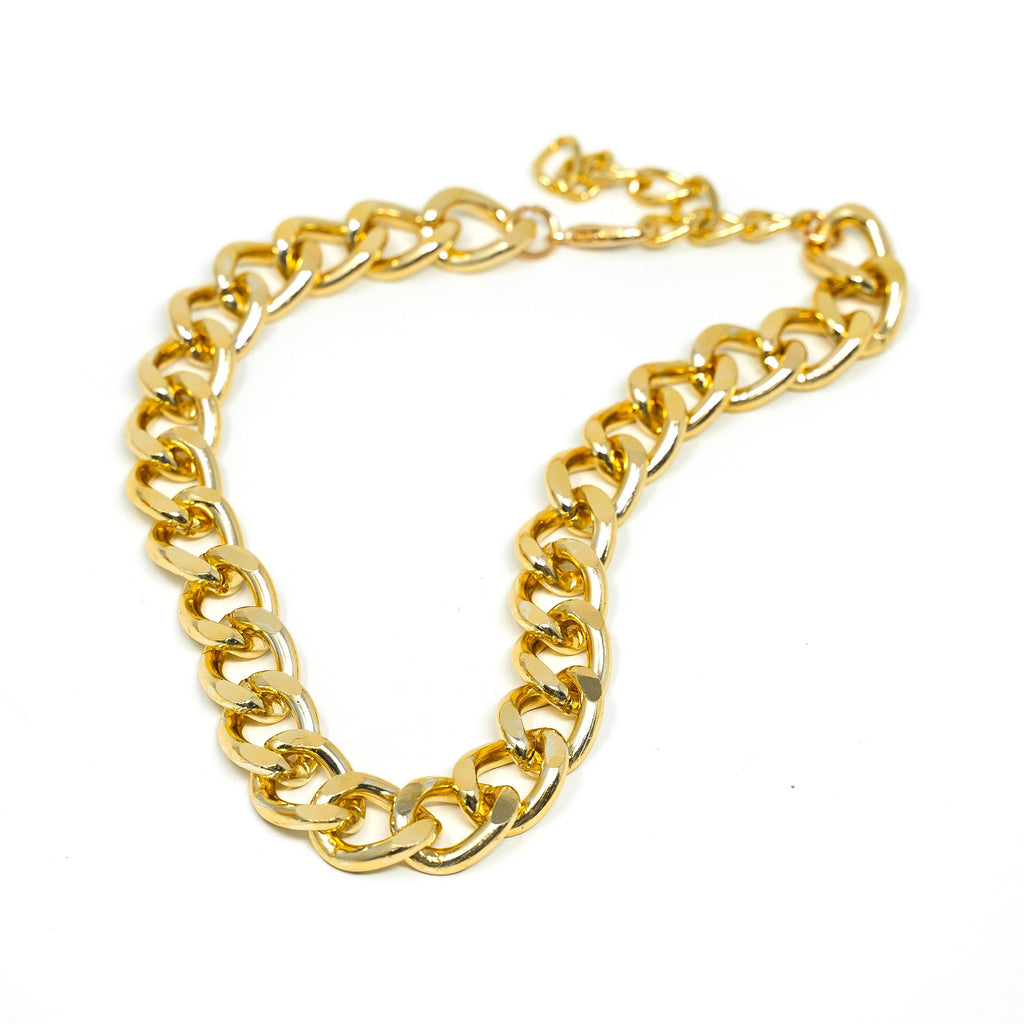 Bold Gold Chain Chokers JEWELRY The Sis Kiss 18mm Curb Links