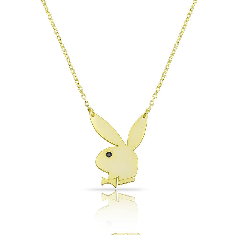 Bowtie Bunny Pendant Necklace JEWELRY The Sis Kiss