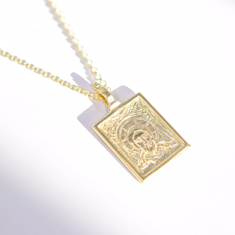 Share the Faith - Rectangular Pendants JEWELRY The Sis Kiss Christ Pendant