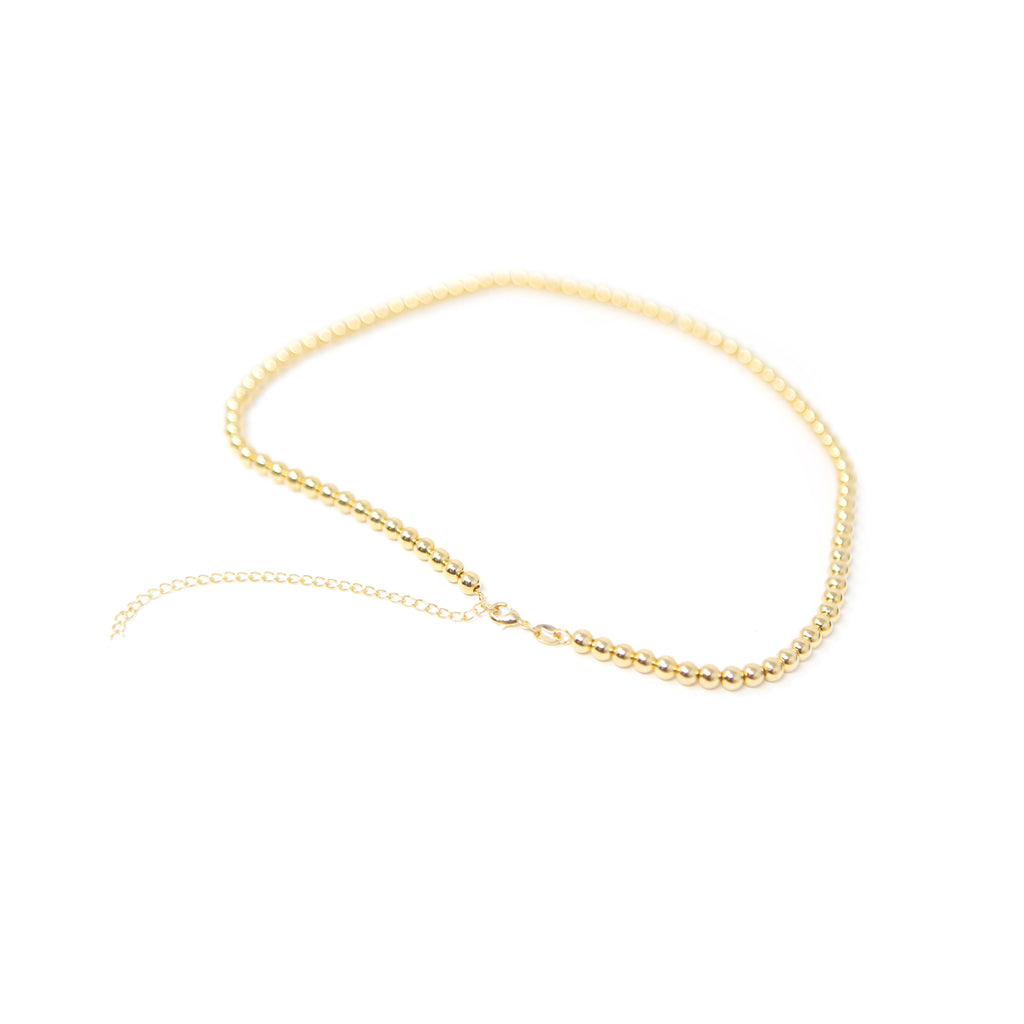 Classic Gold Beaded Necklace necklace The Sis Kiss