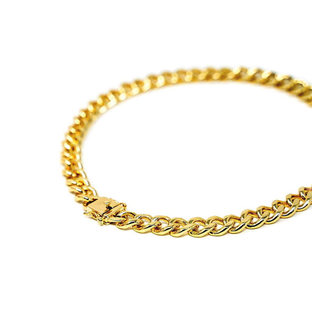 Classic Gold Curb Chain Choker JEWELRY The Sis Kiss