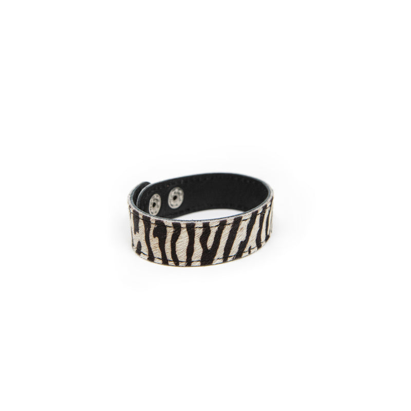 Authentic Cowhide Snap Bracelets JEWELRY The Sis Kiss Zebra