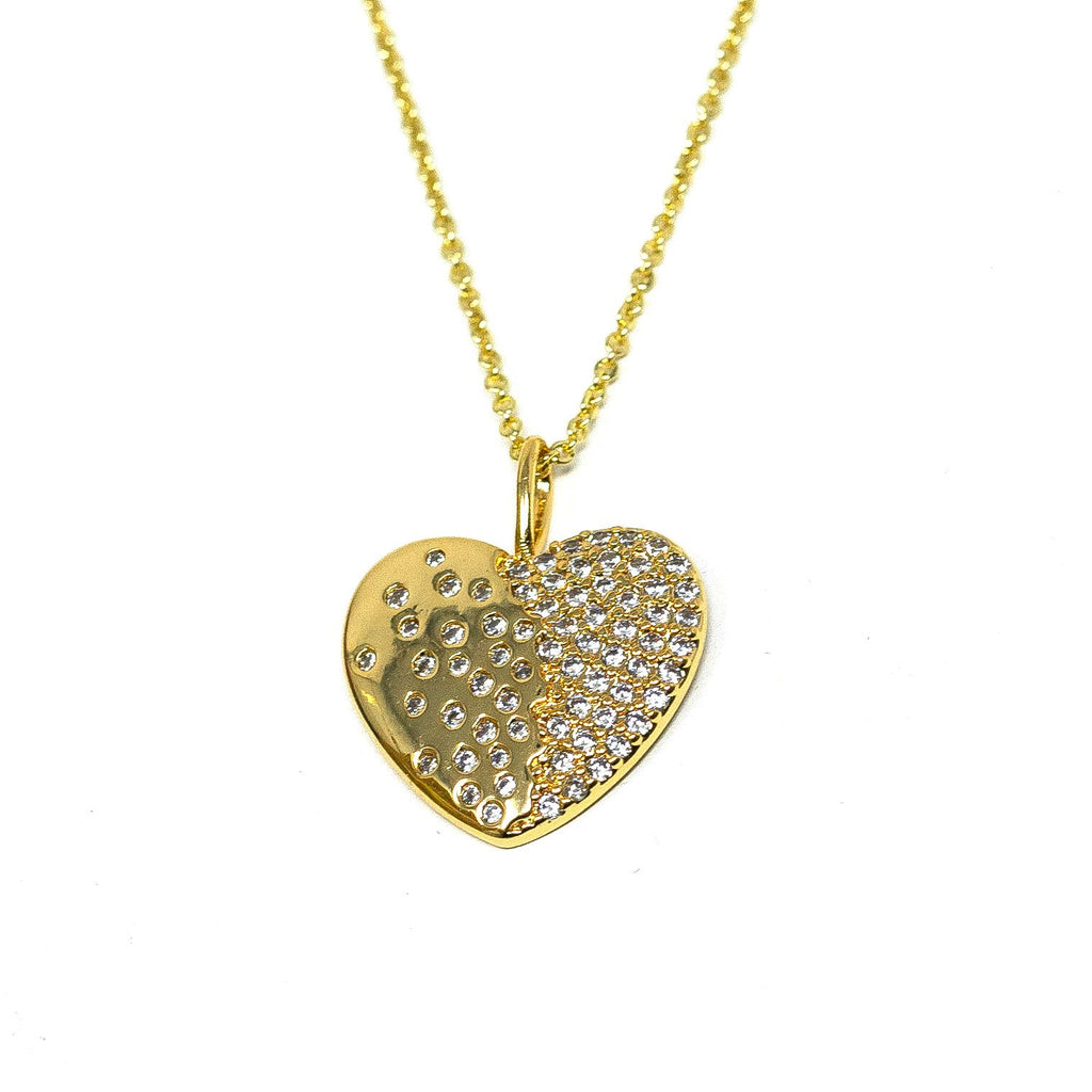 Crystal Heart Pendant Necklace JEWELRY The Sis Kiss