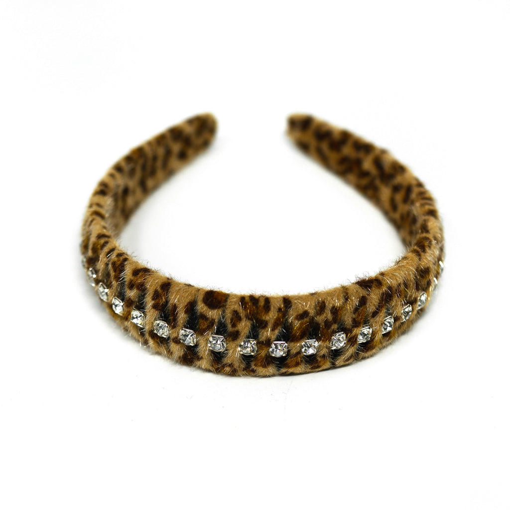 Crystal Leopard Headband ACCESSORY The Sis Kiss