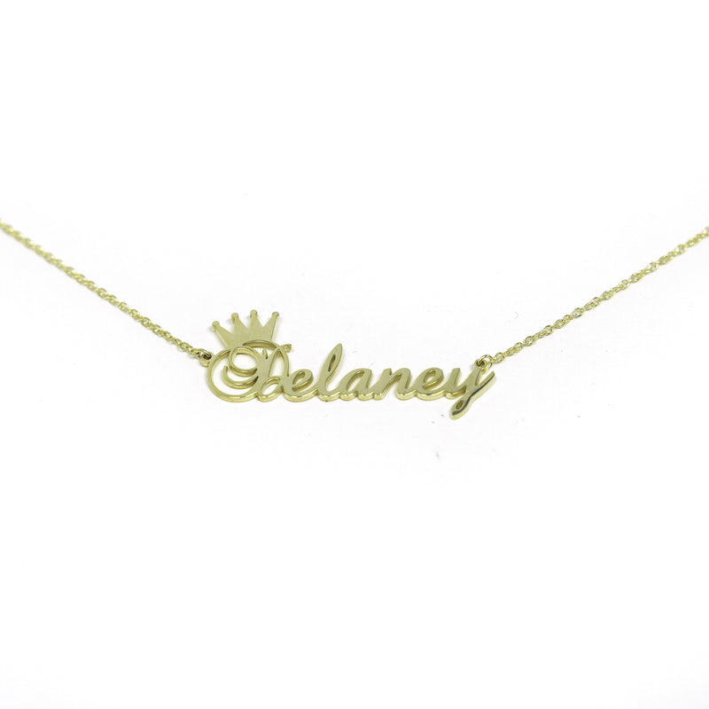 Custom Crown Nameplate Necklace