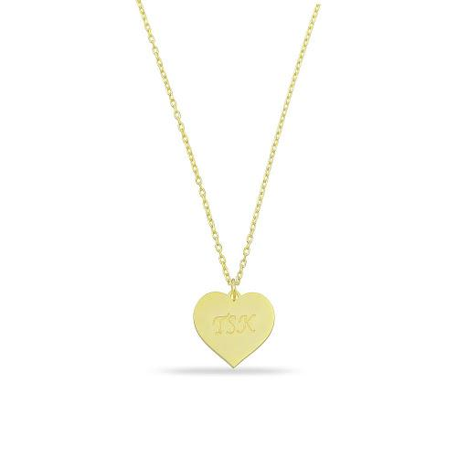 Custom Engraved Heart Pendant JEWELRY The Sis Kiss Gold