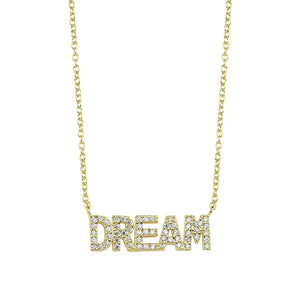 LOVE Graphic Text Necklace