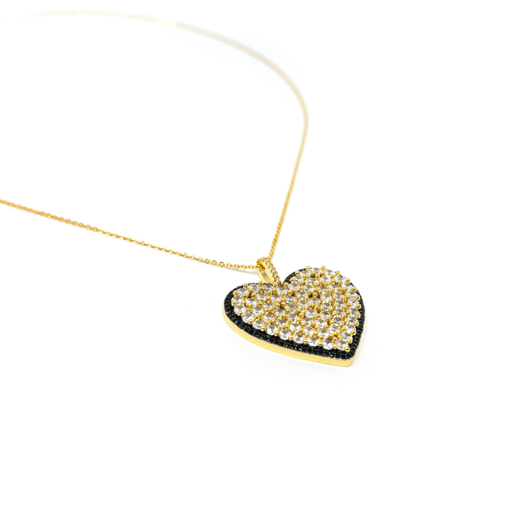 Statement Jeweled Heart Necklace JEWELRY The Sis Kiss