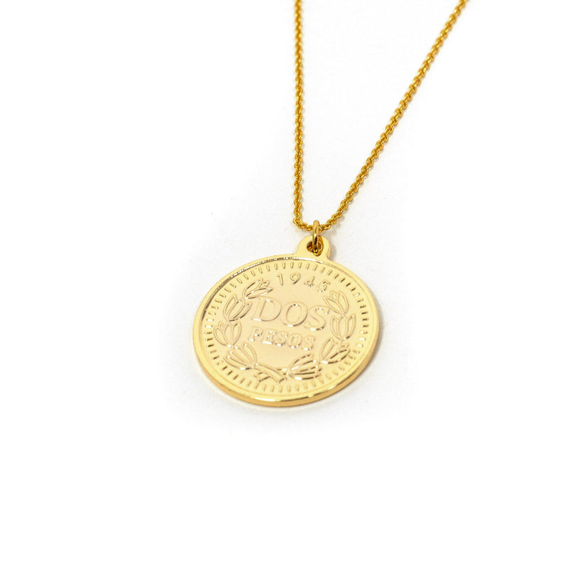 Crown Currency Inspired Pendant Necklaces JEWELRY The Sis Kiss
