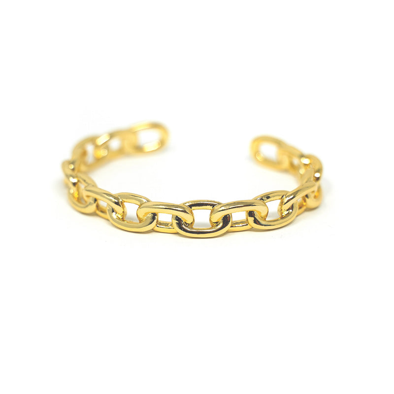 Gold Chain Link Cuff JEWELRY The Sis Kiss Anchor Chain