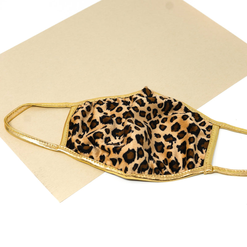 Leopard Masks and Pouches ACCESSORY The Sis Kiss MASK
