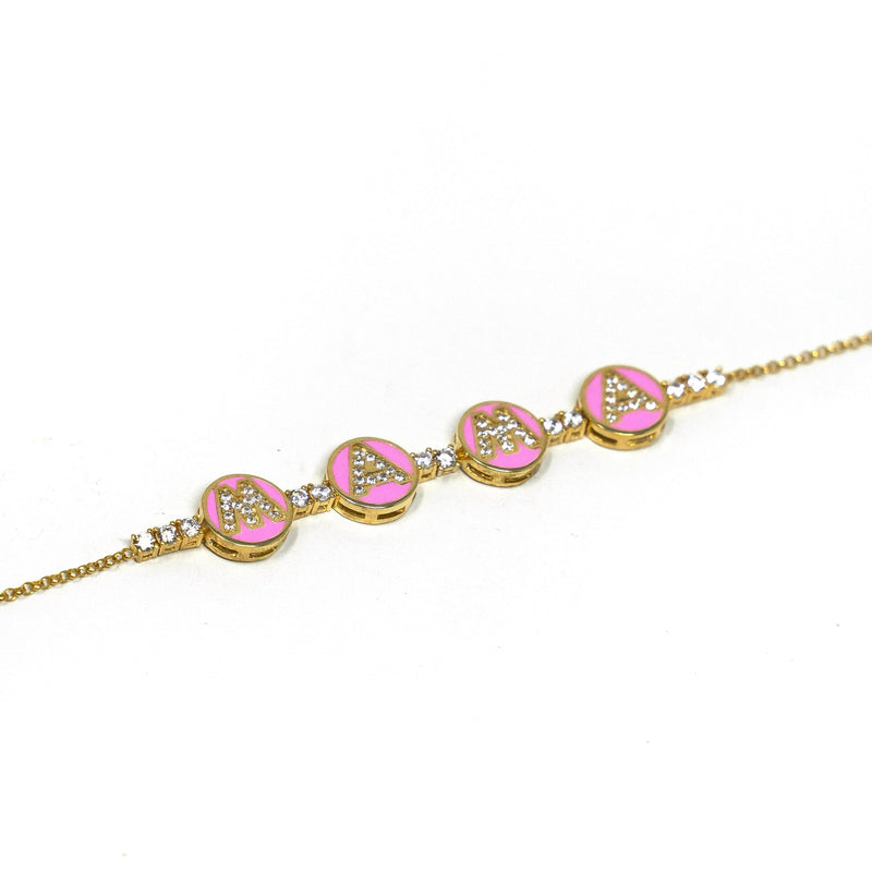 Mama Tennis Bracelet JEWELRY The Sis Kiss Pink