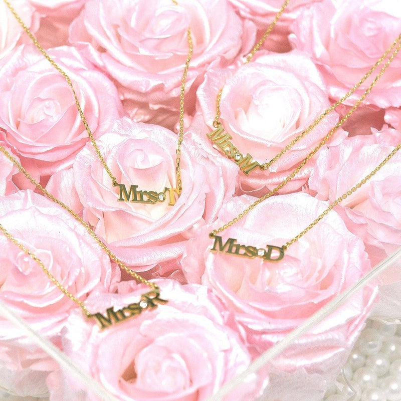 Custom Mrs./Miss./Ms. Necklace JEWELRY The Sis Kiss